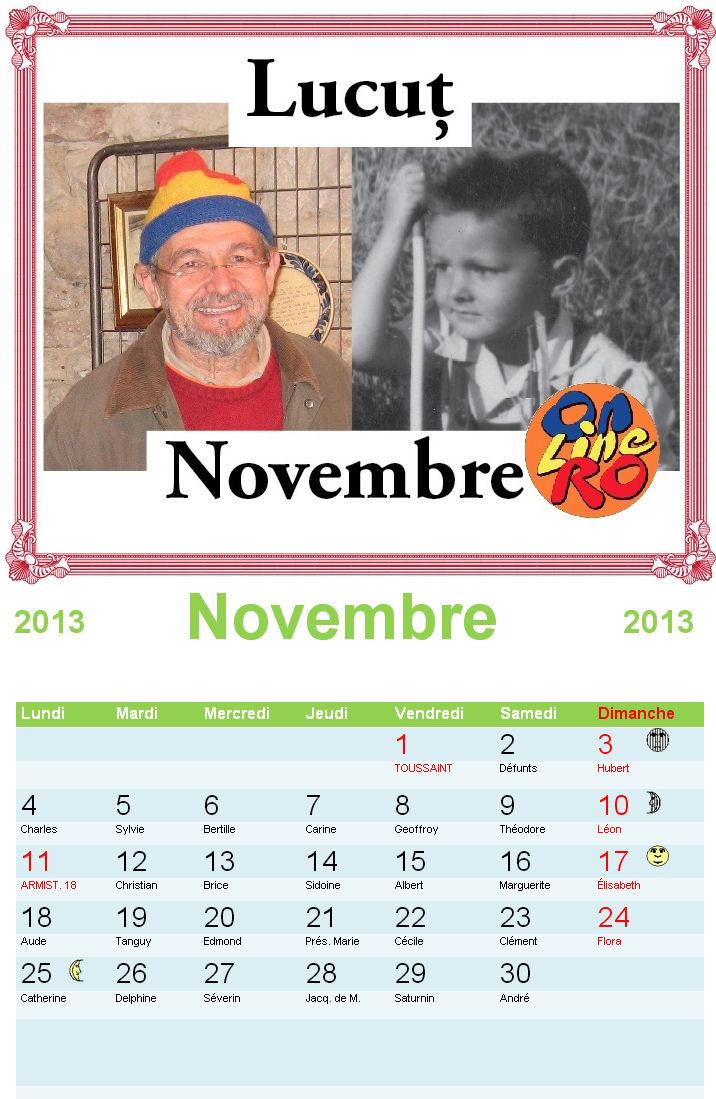 Un calendrier onlineRo.com ! ! !  Nov2013_lucut